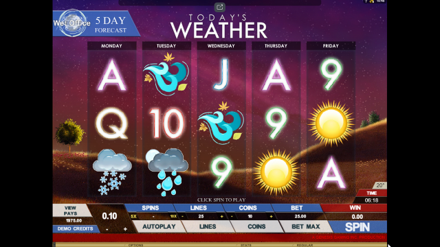 Бонусная игра Today's Weather 10