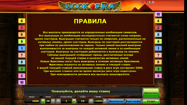 Бонусная игра Book Of Ra Deluxe 5