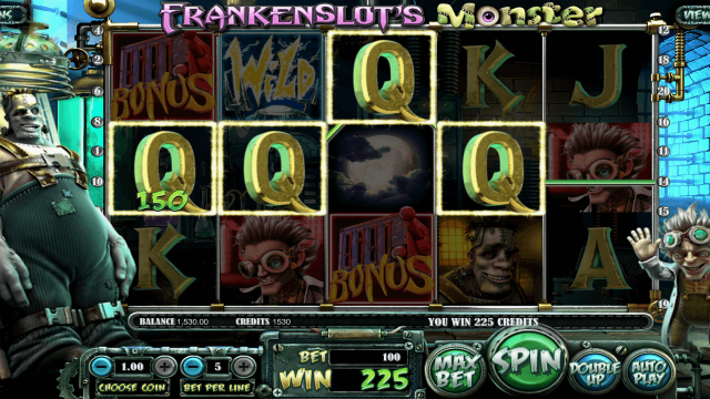 Характеристики слота Frankenslot's Monster 8
