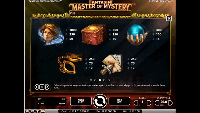 Бонусная игра Fantasini: Master Of Mystery 3