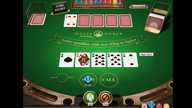 Бонусная игра Oasis Poker Professional Series 2