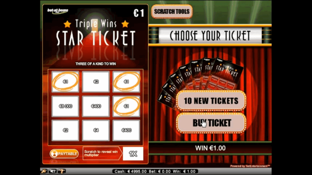 Характеристики слота Triple Wins Star Ticket 2