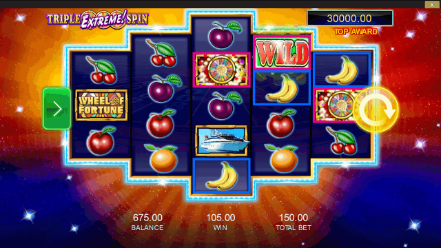 Игровой интерфейс Wheel Of Fortune: Triple Extreme Spin 7