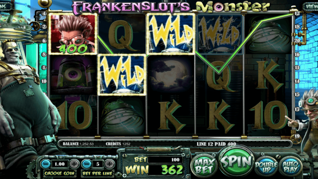 Характеристики слота Frankenslot's Monster 6