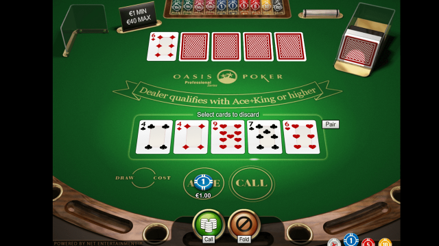 Бонусная игра Oasis Poker Professional Series 8