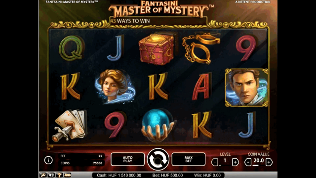Бонусная игра Fantasini: Master Of Mystery 1