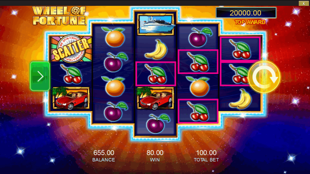 Игровой интерфейс Wheel Of Fortune: Triple Extreme Spin 8